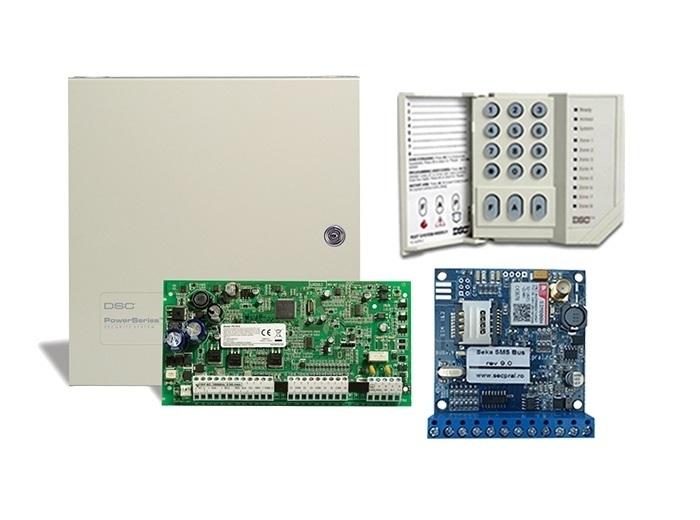 KIT CENTRALA PC 1616 + SEKA SMS DSC
