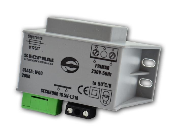 TRANSFORMATOR CAPSULAT 20/16V CU SIR DE CLEME