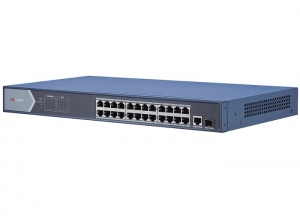 SWITCH 24 PORTURI POE, 1XSFP, 370W, RACK EARS